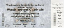 Washington Capitals game ticket